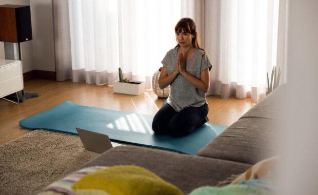 start beginner yoga home